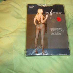 Leg Avenue Intimates & Sleepwear - Leg Avenue Bodysuit seamless fishnet lace up back